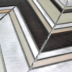 muestra mosaico de aluminio modelo alu-theko