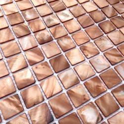 echantillon mosaique en nacre modele nacarat marron