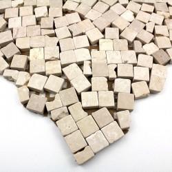 muestra mosaico de piedra modelo mp-lullibeige