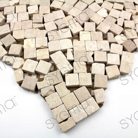 sample stone mosaic tile model mp-lullibeige