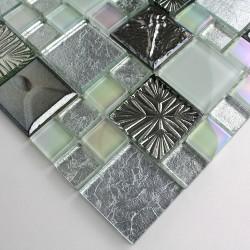 muestra mosaico de piedra y vidrio modelo lugano