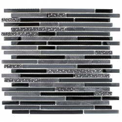 black mosaic tile wall shower and kitchen mvp-bullit