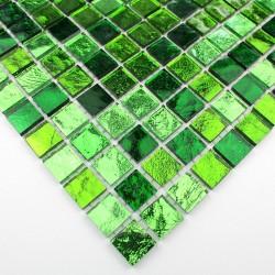 azulejo muestra mosaico suelo y muro de vidrio Strass Vert