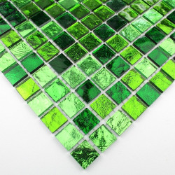 tile sample mosaic glass floor and wall model Strass Vert