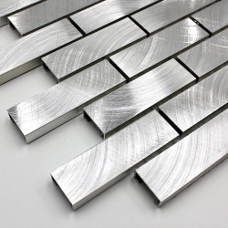 tile metal sample aluminium mosaic alu-brique64