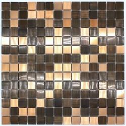 mosaique metal bronze cuisine et salle de bain soul