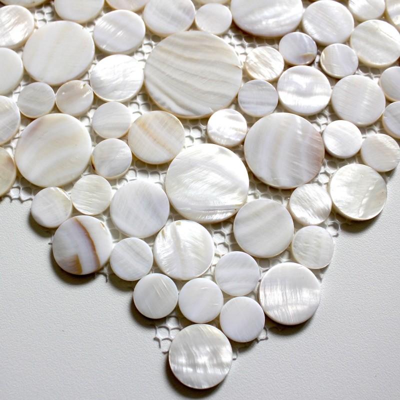 Carrelage mosaique en nacre pour sol et mur 1m redondo blanc carrelage - Mosaique et carrelage ...