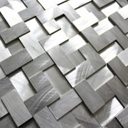 mosaique 3d aluminium murale 1m-konik