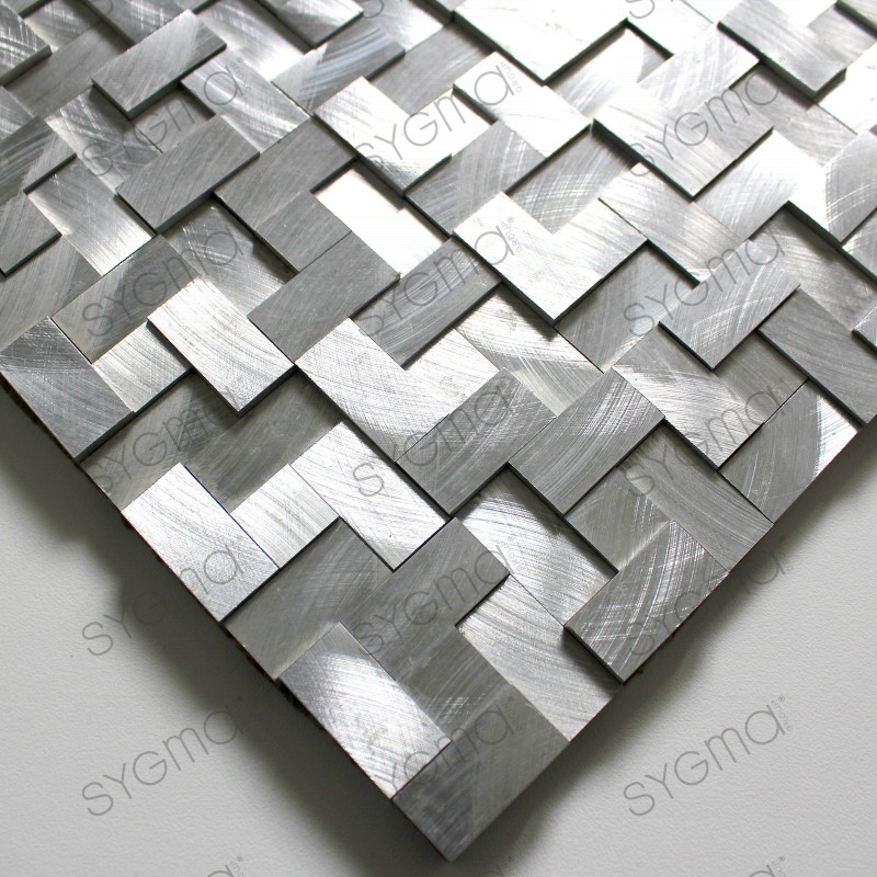 Mosaique 3d aluminium murale 1m konik carrelage for Carrelage 1m 1m