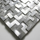mosaique echantillon metal aluminium modele alu-konik