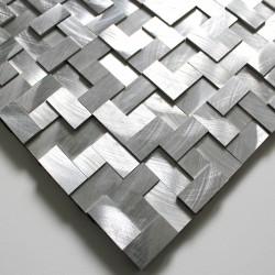 mosaico muestra metal aluminio modelo alu-konik