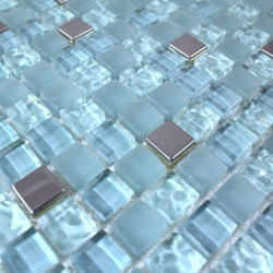 carrelage salle de bain verre mosaique douche 1m-harris-bleu