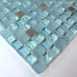 mosaico muestra ducha y baño de vidrio harris-bleu