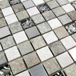 carrelage mur salle de bain et mosaique douche 1m-swiri