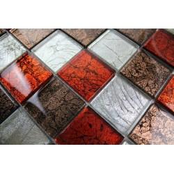 carrelage mosaique pas cher mur cuisine et salle de bain 1m-lux-rouge
