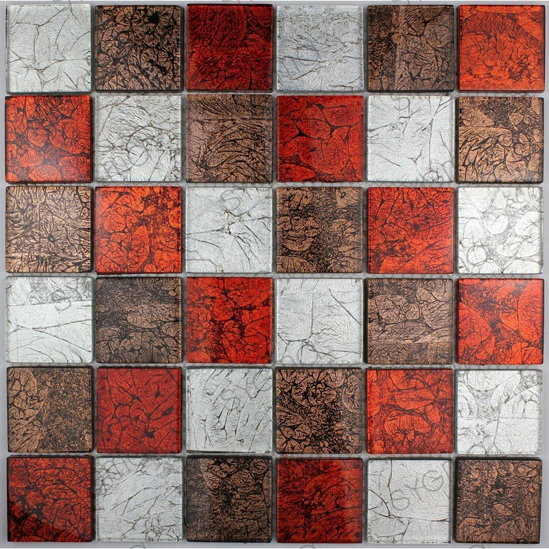 cheap mosaic tile wall kitchen and bathroom 1m-lux-rouge - carrelage-inox fr