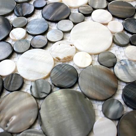 mosaic tile walk in shower 1m-redondo-gris
