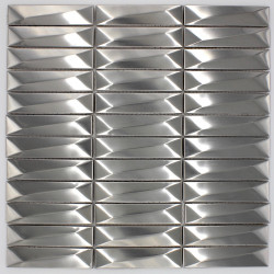 carrelage mural metal acier inox mos-in-chola