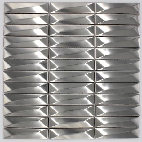 carrelage mural metal acier inox mos-in-chola