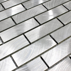 azulejo mosaico pared cocina aluminio 1m-alu-brique64