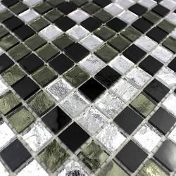 carrelage mosaique faience salle de bain et douche 1m-gloss-nero