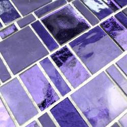 mosaique carrelage en verre pour mur salle de bain et douche 1m-pulp-violet