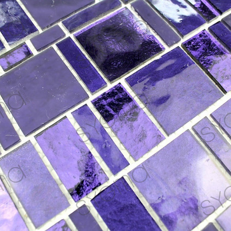 mosaic tile glass for wall bathroom and shower 1m-pulp-violet