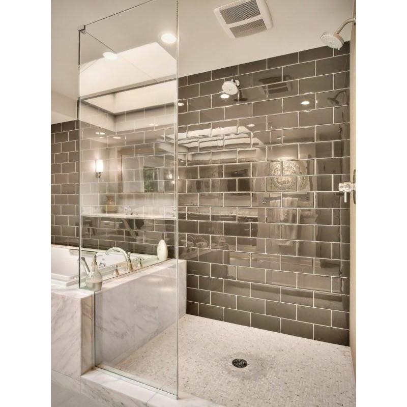 Tile steel tile mirror kitchen splashback brique150 miroir for Carrelage inox fr