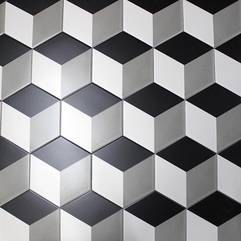 patchwork tile imitation cement cim cube carrelage. Black Bedroom Furniture Sets. Home Design Ideas