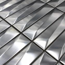 teja de metal acero inoxydable pared cocina o baño 1m-chola