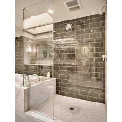 azulejo de acero inoxidable espejo pared cocina y baño 1m-brique150-miroir