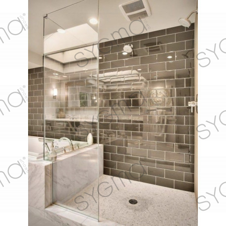 Tile stainless steel mirror wall kitchen and bathroom 1m for Miroir mosaique design