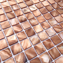 mother of pearl mosaic floor and wall 1m Nacarat Marron