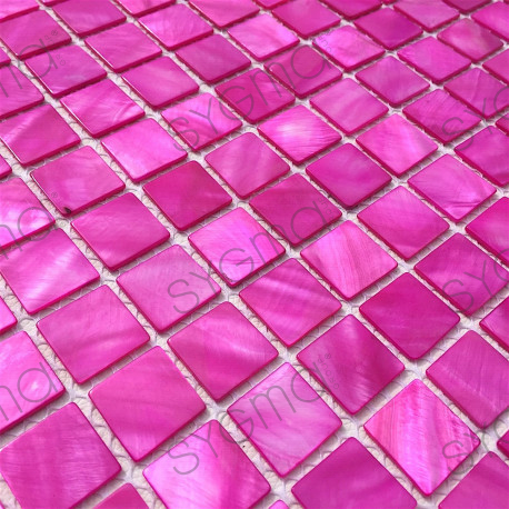tile shell mosaic shower and bathroom 1m Nacarat Rose