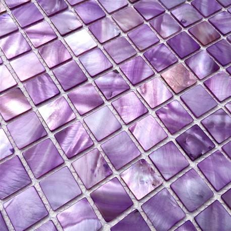 floor walkin shower mosaic and wall bathroom shell 1m nacarat violet