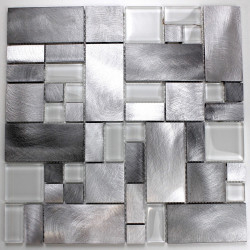 tile mosaic aluminium kitchen and bathroom alu-aspen