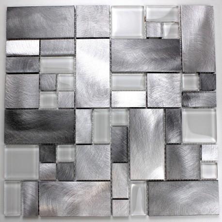azulejo mosaico de aluminio cocina y bano modelo alu-aspen