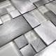 carrelage mosaique aluminium cuisine ou salledebain alu-aspen