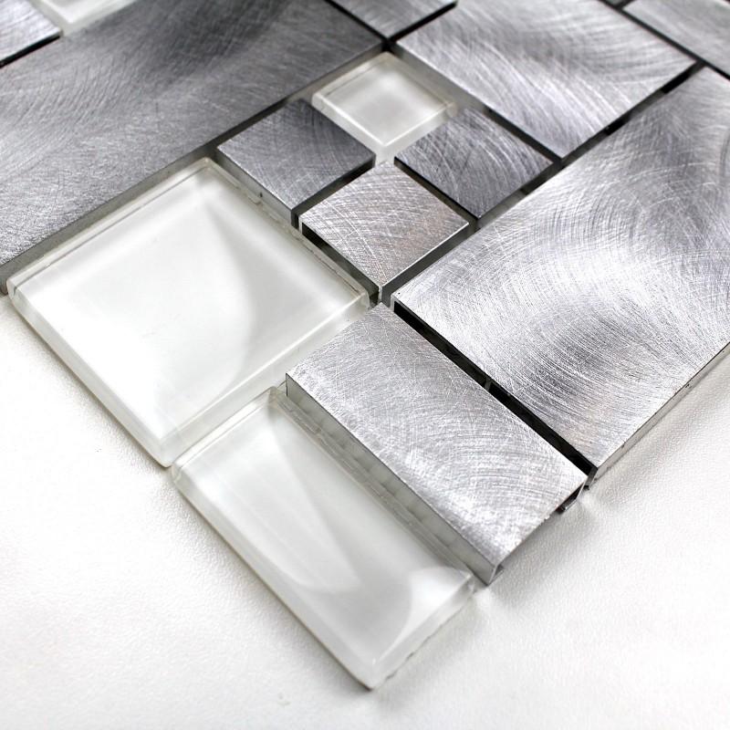 carrelage mosaique aluminium cuisine ou salledebain alu