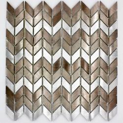 Mosaico de pared aluminio cocina y bano modelo cox