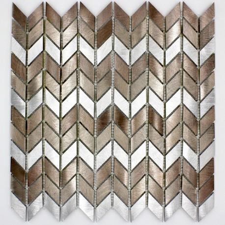 Mosaique murale aluminium cuisine ou salledebain cox