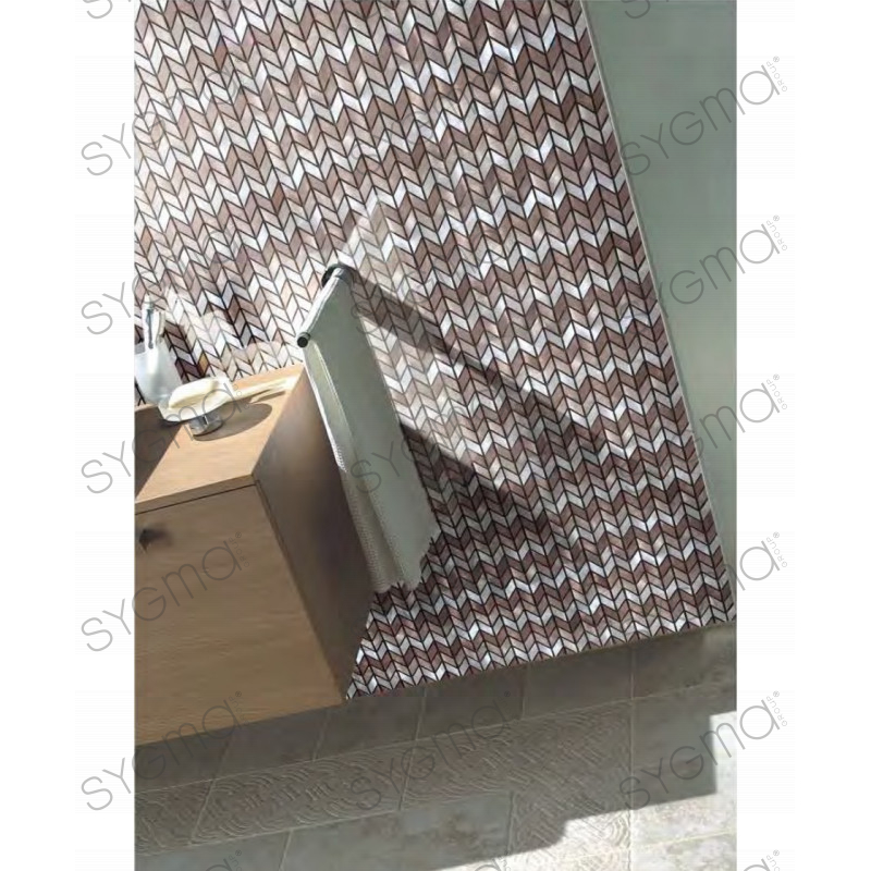 mosaique murale aluminium cuisine ou salledebain brony carrelage. Black Bedroom Furniture Sets. Home Design Ideas