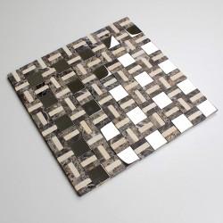 piedra azulejo mosaico y acero mp-lotta