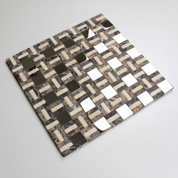 stone mosaic tile and stainless mp-lotta