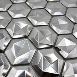 teja de metal acero inoxydable pared cocina o baño 1m Kami