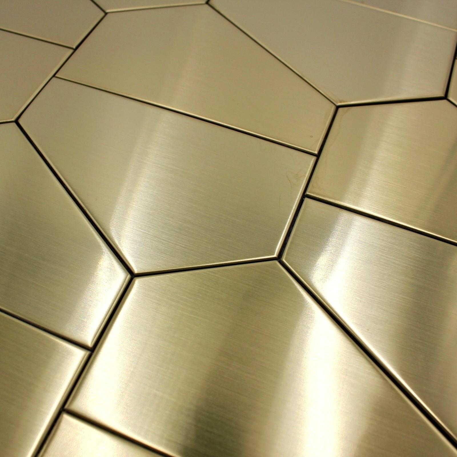 Credence En Gres Cerame mosaique metal acier inox cuisine credence et fond de hotte