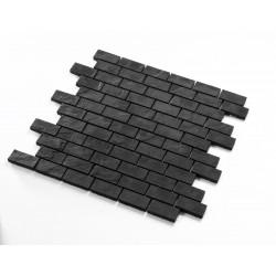Mosaique carrelage en ceramique noire credence cuisine et salle de bain mp-boone