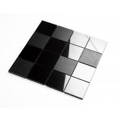 Carrelage mosaique en ceramique noire mur et sol mp-flynn