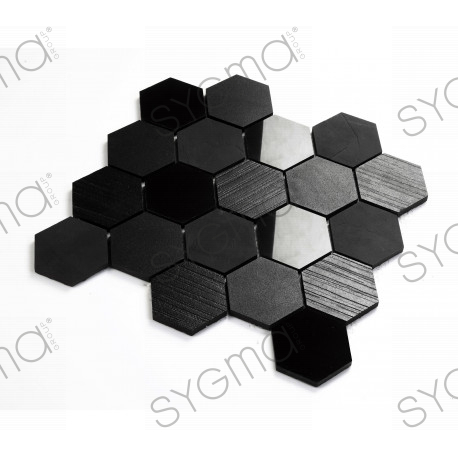 Black tile ceramic mosaic for wall and floor mp-kendal