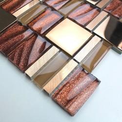 echantillon mosaique en verre modele mv-glit